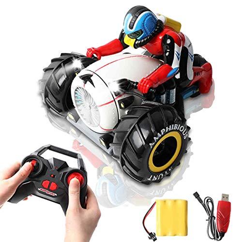 MAFANG RC Motorrad, High Speed Spinning Stunt Car 2.4G Fernbedienung Amphibious Motorcycle Drives Auf Land Und...