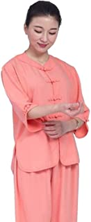 Four Season Tai Chi Uniform Set, Martial Arts Suit Men Tai Chi Clothing Women Breathable Short Sleeve Solid Color Tai Chi ...