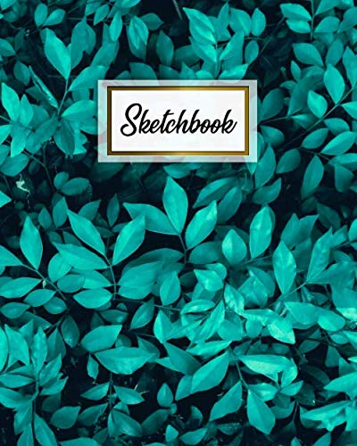 Sketchbook: Pretty Jungle Leaves Notebook & Workbook for Class, Work or Home | Elegant Artistic Journal Book for Drawing, Sketching, Painting or Writing