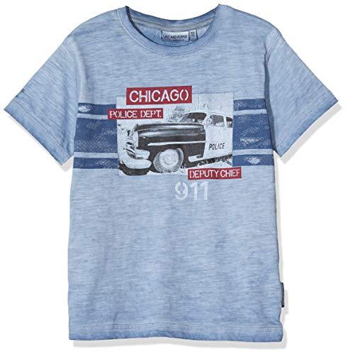 Salt & Pepper Jungen 03112190 T-Shirt, Blau (Smoke Blue 461), 128 (Herstellergröße: 128/134)