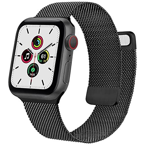 Yonk Métal Bracelets Compatible avec Apple Watch 38mm 40mm 42mm 44mm, Métal en Acier Inoxydable Réglable, Bracelets de Remplacement Compatibles pour iWatch Série 6 5 4 3 2 1 Se