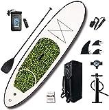 LXDDP Stand Up Paddle Board Gonflable, kit Stand up Paddle Gonflable avec 3 Palmes Thuster et Sac étanche pour la pêche au Yoga, Le Jeu Sport Nautique