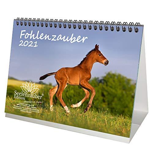 Fohlenzauber DIN A5 Tischkalender für 2021 Pferde und Fohlen - Seelenzauber