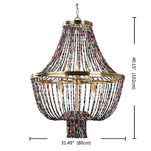 G0000D Chandelier Agate Beads Chandeliers Colorful Lighting Boho Decorative Living Room Chandelier Kitchen Loft Hanging Lights For Nursery Bedroom Top Quality & Free Shipping==> [Dia80 H102Cm E14X8]