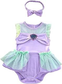 Lito Angels Baby Girls Princess Snow White Cinderella Ariel Mermaid Costume Onesie Romper Bodysuit Halloween Dress Up