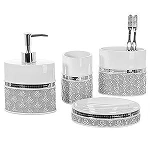 51jguYUtRCL._SS300_ Coastal & Beach Bathroom Accessories Sets