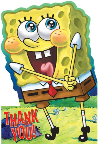 SpongeBob Thank You Cards (Pack of 8)