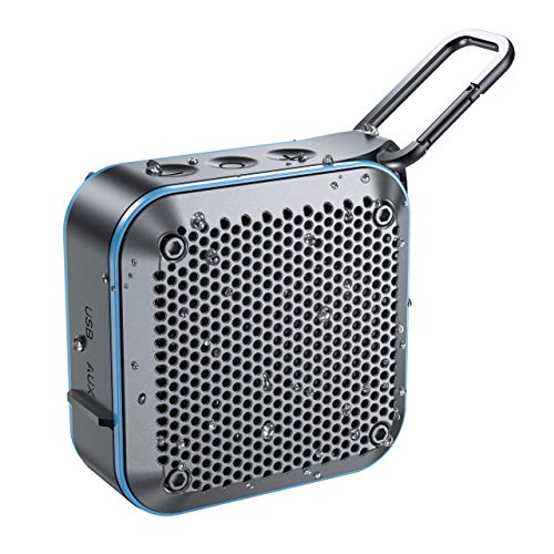 IPX7 Waterproof Bluetooth Speaker, Portable Wireless Outdoor Speaker with Stereo Sound, Enhanced Bass, Built in Mic, AUX/SD/TF Card Play, 12H Playtime, Bluetooth speaker for Shower, Home, Beach, Pool
