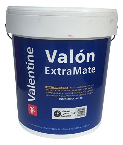 Cin Valentine 0370003 Valón Extra Mate, pintura plástica (grande), Blanco