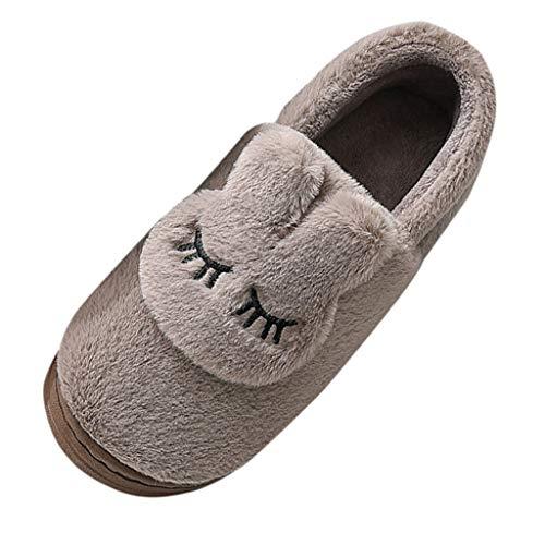 ROVNKD - Zapatillas de invierno para hombre y mujer, cálidas, unisex, forradas, impermeables, para interiores y exteriores, color Marrón, talla 42 EU