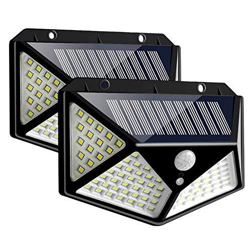 ケイ・ララ 人感センサーライト 屋外 2個セット 4面発光 LEDソーラーライト ガーデンライト