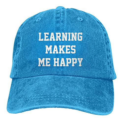 Jopath Learning Makes Me Happy - Gorra unisex para camionero, color azul