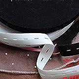 BTKNOO 1M langes schwarzes weißes Gummiband für Unterwäsche Handgemachtes Nähen DIY-Zubehör Flaches Gummiband für Babyhosen Kleidung, schwarz