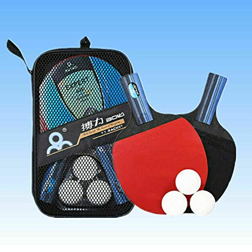 Review LFF TENT Table Tennis Bats and Balls Set, Professional Ping Pong Racket Paddle Set, (2 Racket...