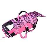 AIHOME mascotas perros salvavidas schwimmsiche rheits Chaleco salvavidas para perros sirena Color Rosa