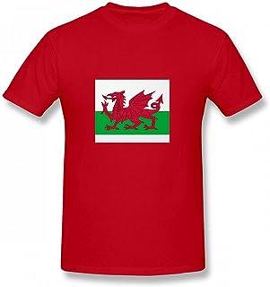 トップス ウェールズ旗 Men T-Shirt メンズ Tシャツ