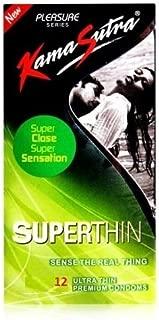 KamaSutra Pleasure Superthin Condom - 12 Pcs (Pack of 3)