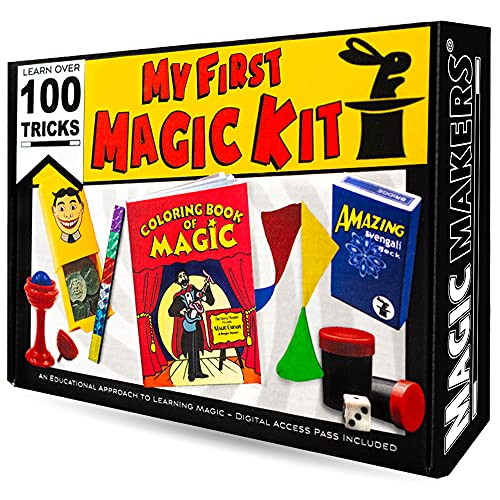 Magic Tricks Kit for Kids - My First Magic Kit 100 Tricks - Complete Magic Course with Video Lessons