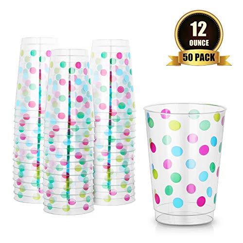 Cristalería de recipientes de plástico reutilizable Vidrio del vaso de cóctel bebidas 400ml 50 Pack