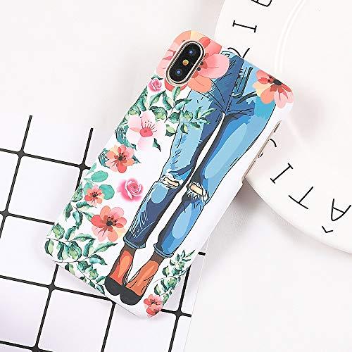 KNGYUTF telefoonhoesje Telefoonhoesje Voor iPhone 6 6S 7 8 Plus X XS Fresh Watercolor Mooie Jeans Meisjes Telefoon Terug Cover Cases Beste Geschenken For iPhone 8 plus multi