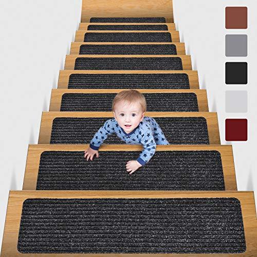 MBIGM Alfombra antideslizante para escaleras, de 20,32 x 76,2 cm (paquete de...