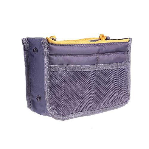 Organizador de cosméticos 12-Mouth Premium Bolsa de cosméticos Bolsa de lavado de moda Bolsa de almacenamiento de doble cremallera Bolsa de aseo multifuncional para viajes Hombres Mujeres (gris)