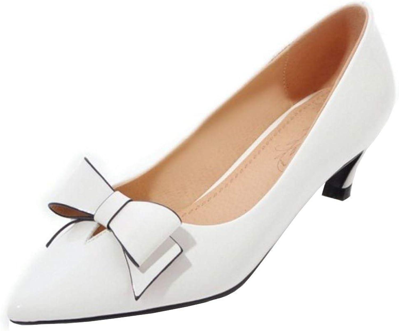 Unm Women Fashion Kitten Heel Pumps Bowknot