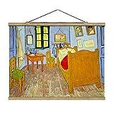 Bilderwelten Imagen de Tela - Vincent Van Gogh - Bedroom In Arles, 37.5cm x 50cm, Material:Roble...