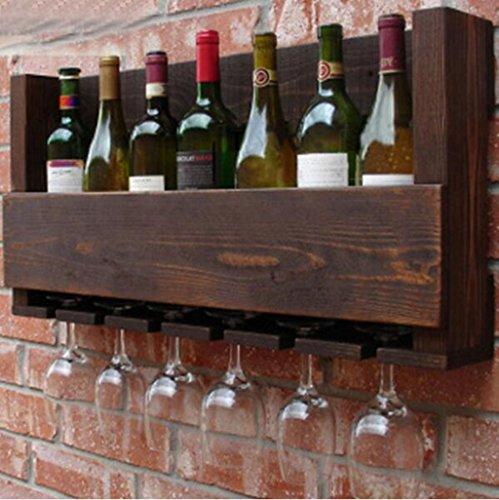 HQQ Estantería de Madera Maciza/vinoteca mostrador de Vino/Estante del Estante del Vino Ceniza de Madera Maciza de Pared Estante del Vino Pintura Verde Muebles de Restaurante