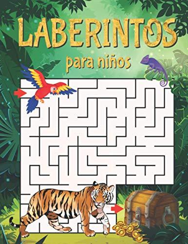 Laberintos para Niños: Libro de Actividades con 40 Divertidos y Educativos Rompecabezas de Laberintos para Niños a Partir de 5 Años