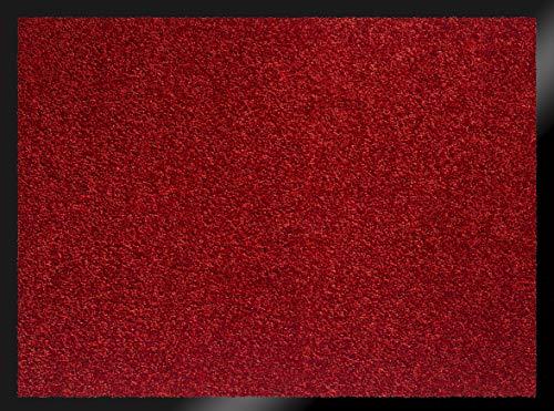 ID MAT 608005 Mirande - Tappeto zerbino in Fibre Nylon e PVC, gommato 80x 60x 0,9cm, Rosso, 60 x 80 cm