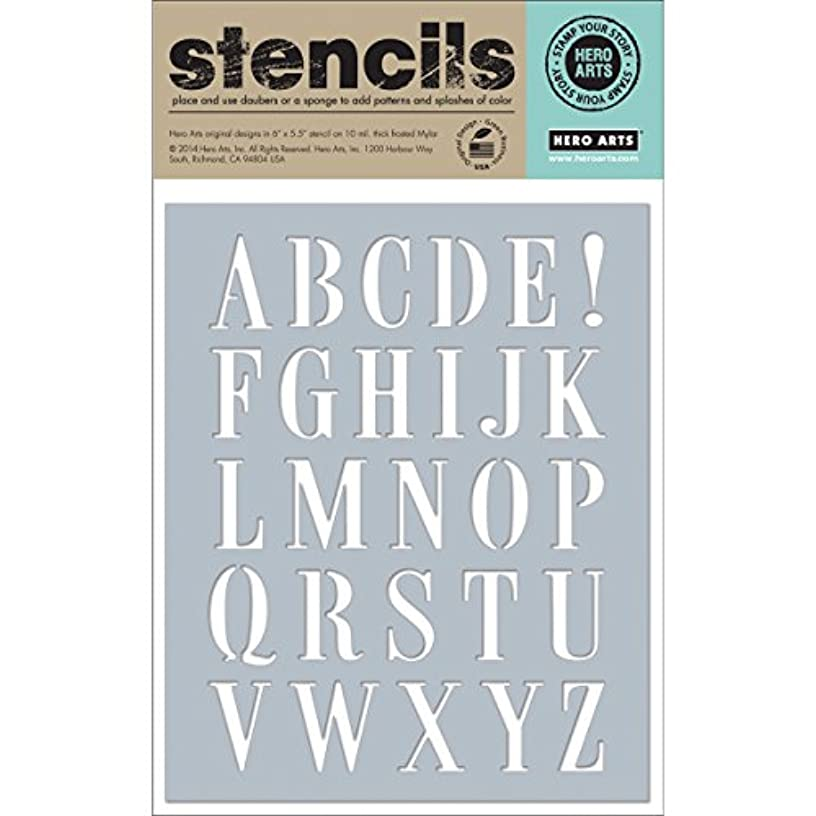 Hero Arts SA033 Scrapbooking Stencils, Subway Letters