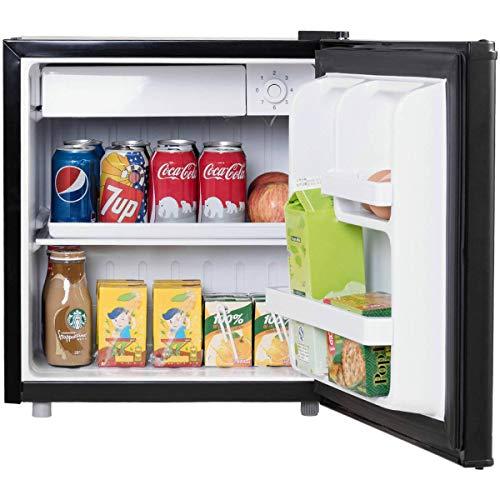 COSTWAY Mini Kühlschrank mit Gefrierfach Kühl-Gefrier-Kombination A+ 48L