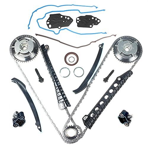 Engine Timing Chain Kit Cam Phaser Camshaft Drive Phaser Repair Kit 3R2Z-6A257-DA For 2004 2013 5.4L 3V 24 Valve Triton Ford Expedition, F-150, F-250, F-350 Super Duty, Lincoln Mark LT, Navigator