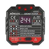 KKmoon KKM5 Digital Display Socket Detector Portable Circuit Polarity Voltage Tester Wall Plug