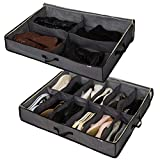 Sami Time 4 Pairs+12 Pairs Under Bed Shoe Boot Organize Bag,Enlarged Size