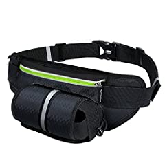 【Unique running fanny pack with water bottle holder 】(THE WATER BOTTLE IS NOT INCLUDED) which can tight the kettle invisibly and conveniently. The water bottle holder is in the front of the running fanny pack water resistant so it won't get in the wa...