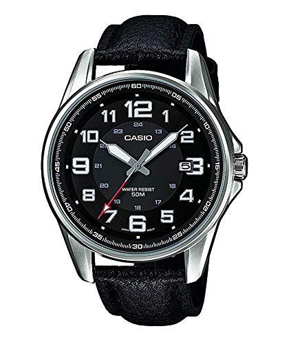 Casio Hommes Analogique Quartz Montre avec Bracelet en Cuir MTP-1372L-1BVEF