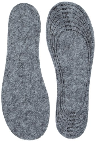 Playshoes Kinder Filz, Größe 20/21-34/35 Einlegesohlen, Grau (original 900), Einheitsgröße 75. Grams
