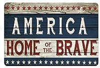 男性女性のための勇敢なヴィンテージメタルティンサインマン洞窟のアメリカの家、バー、トイレ、レストラン、カフェパブ、12x8インチの壁の装飾