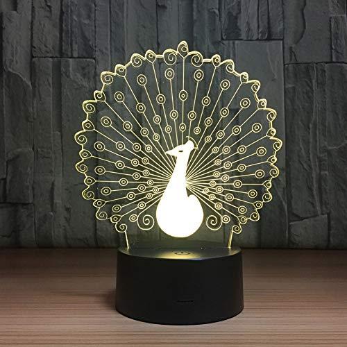 YS&VV 3D Illusie Nachtlampje 7 Kleuren Met Afstandsbediening USB Aangedreven Kinderen Kamer Tafel Lamp Nachtlampjes Jongen En Meisje Creatieve Gift Lights