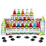Hawaiian Shaved Ice Syrup 20 Pack with Accessories, 16 Fluid Ounce Bottles