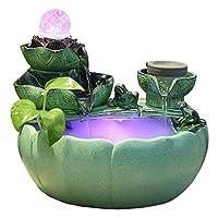 家の装飾卓上噴水クリエイティブ屋内噴水デスクトップ魚のいる池の噴水ホームオフィス装飾工芸品ギフト緑のデスクトップの滝