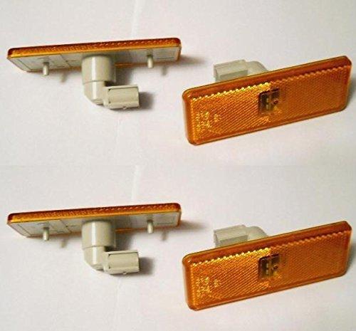 4 x LED-Reflektoren Seite Marker Leuchten für Actros Atego Axor Bernstein E11 markiert OEM ersetzen 0005445211/311/411