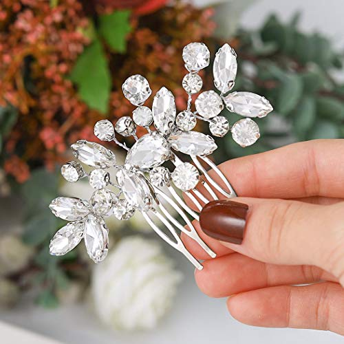 Unicra Braut Hochzeit Haarkamm Kristall Haarschmuck Brautschmuck Haarschmuck für Frauen und Mädchen
