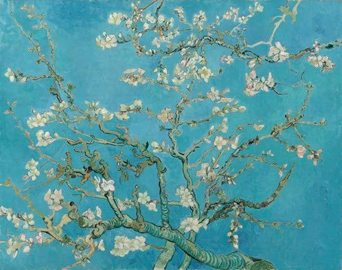 IXXI Wanddekoration (Cards 10 x10 cm) Van Gogh . Mandelblüte - L - 160 x 120 cm wall decoration 130307 großes Wandbild, Mosaikbild, Poster, Mosaik, Wanddeko, Collage, Wandbehang, Home Wanddeko, Wandbilder, Decor, Boho, Boho Deco