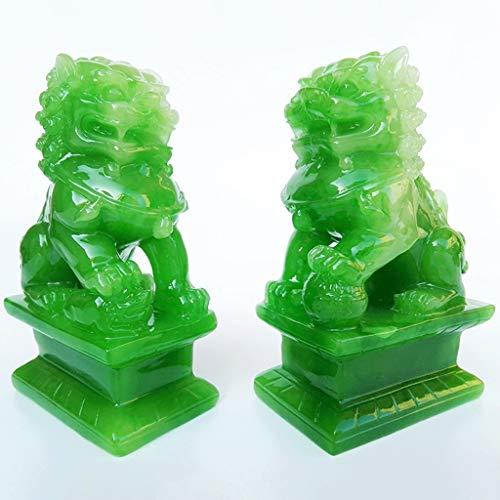 HQ Wealth Porsperity Par de Fu Foo Perros Guardián León Estatuas, la Mejor inauguración de la casa Felicitación para Ward Off Evil Energy, Feng Shui Decor HQ