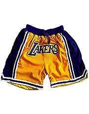 BEOOK Lakers James # 23 - Pantalones cortos de baloncesto para hombre