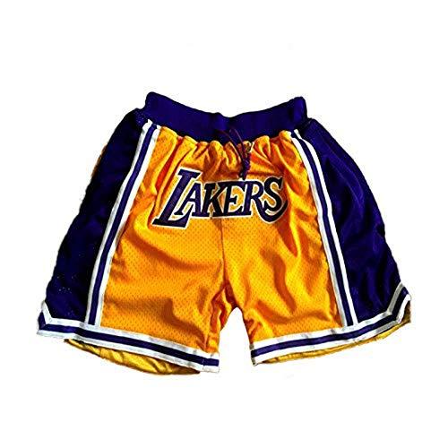 BEOOK Lakers James # 23 - Pantalones cortos de baloncesto para hombre amarillo M