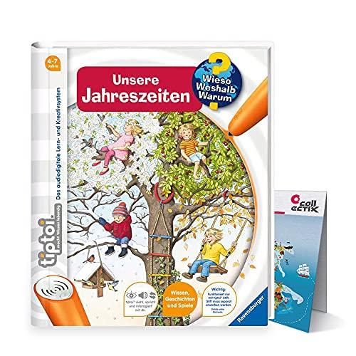 tiptoi Ravensburger Buch   Unsere Jahreszeiten + Kinder Weltkarte - Länder, Tiere, Kontinente
